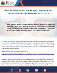 Hand Sanitizer Market Size Analysis, Segmentation, Industry Outlook and Forecasts, 2018 - 2024