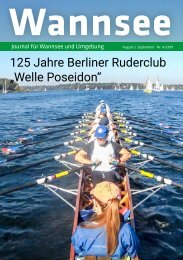 Wannsee Journal August/September 2019