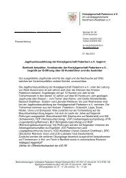 Jagdhundeausbildung - Landesjagdverband Nordrhein-Westfalen