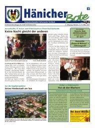 Hänicher Bote | März-Ausgabe 2017