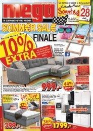 Sommer-Sale: Finale! mega-Möbel in Schwandorf + Weiden
