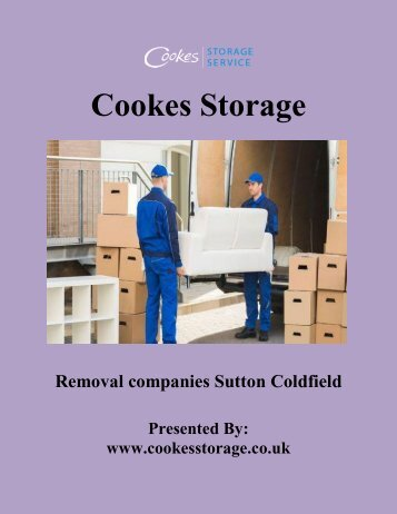 Removal companies Sutton Coldfield