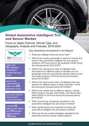 Automotive Intelligent Tire and Sensor Market