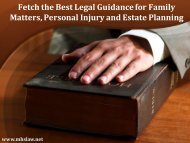 Fetch the Best Legal Guidance for Family Matters