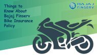 Things to Know About Bajaj Finserv Bike Insurance Policy