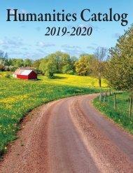 2019-2020 Humanities Catalog