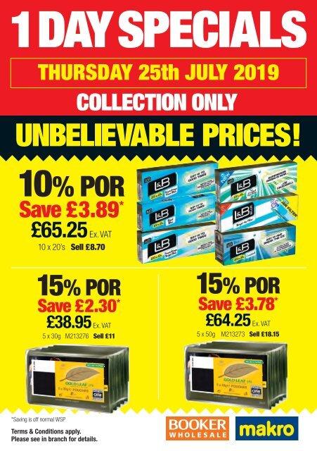 Tobacco Specials 25th July