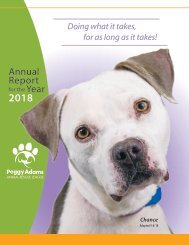 Peggy Adams Animal Rescue League Annual Report