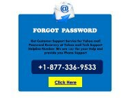 Yahoo Mail Password Reset Support Number USA 1877-503-0107