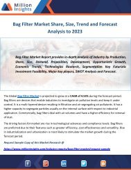 Bag Filter Market Share, Size, Trend and Forecast Analysis to 2023