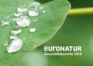 Geschäftsbericht 2018 EuroNatur Stiftung