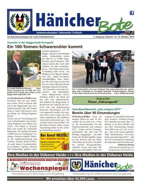 Hänicher Bote | Oktober-Ausgabe 2016