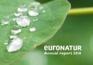 Annual Report 2018 EuroNatur Foundation