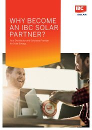 Why become an IBC SOLAR partner?