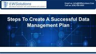 Steps To Create A Successful Data Management Plan -converted