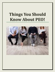 Things You Should Know About PEO!