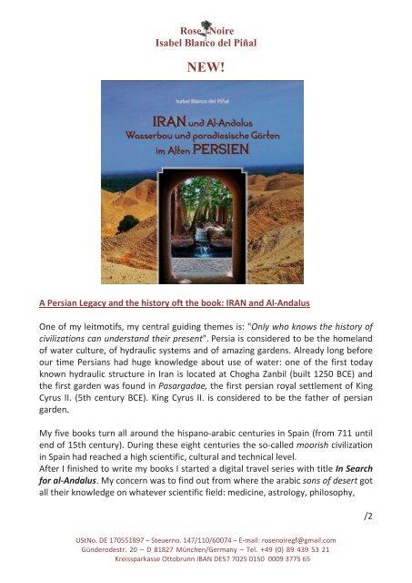 NEW! Iran and Al-Andalus - Wasserbau und paradiesische Gärten im Alten Persien