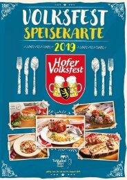 Volksfest Speisekarte 2019