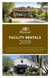 Facility Rental Brochure 2019