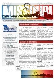 Missouri State Board of Nursing Newsletter - August 2019