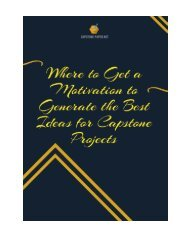 Where to Get a Motivation to Generate the Best Ideas for Capstone Projects