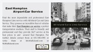 East Hampton Airport Car Service