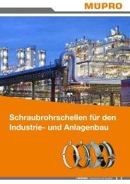 MÜPRO Broschüre Schraubrohrschellen für den Industrie- und Anlagenbau DE