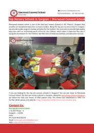 Top Nursery Schools In Gurgaon-Sherwood Convent School