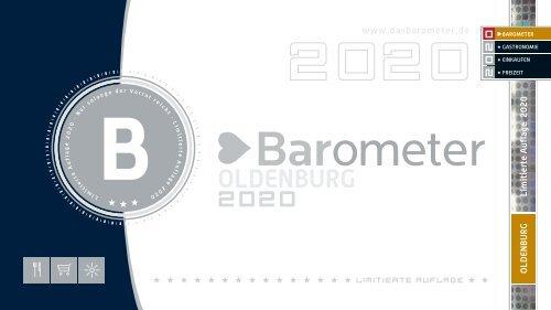 BAROMETER OLDENBURG | Limitierte Ausgabe 2020