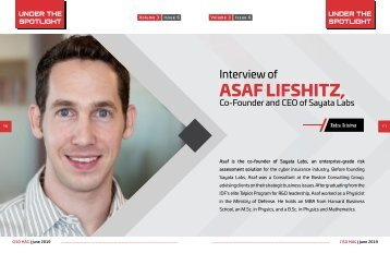 Asaf Lifshitz Interview with CISO Magazine