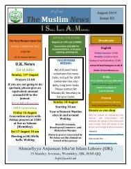 Muslim News No 83 August 2019