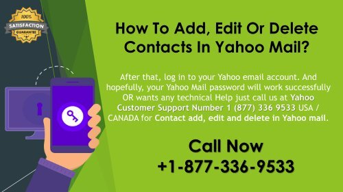How To Add, Edit Or Delete Contacts In Yahoo Mail?