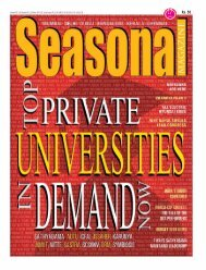 Seasonal Magazine - Universities Cover Story - Latest August 2019 Issue