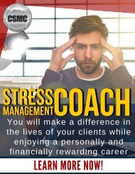 Stress Management Coach Certification and Career Training