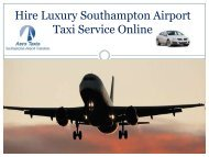 Hire Luxury Southampton Airport Taxi Service Online