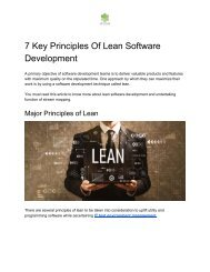 7 Key Principles of Lean Software Development