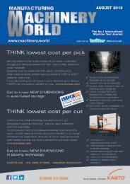 Manufacturing Machinery World August 2019