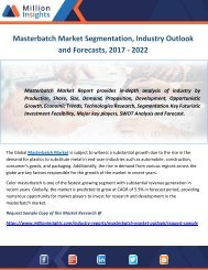Masterbatch Market Segmentation, Industry Outlook and Forecasts, 2017 - 2022