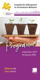 Programm September 2019 bis Januar 2020