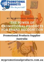 Custom Promotional Items Australia   Effective Promotional Items For Powerful Brand Recognization