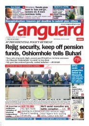 25072019 - Rejig security, keep off pension funds, Oshiomhole tells Buhari