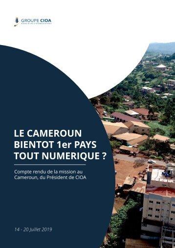 Compte rendu de la mission au Cameroun, du Président de CIOA
