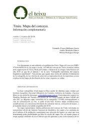 Tinéu. Mapa del conceyu. Información complementaria (1.3)