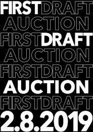 Firstdraft Annual Auction Catalogue 2019