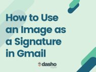 How to Use an Image as a Signature in Gmail