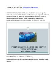 TERBAIK, WA 0812-9627-2689 Jual Bio Septic Tank cimenyan