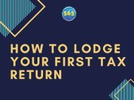 How to Lodge Your First Tax Return