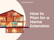 How to Plan for a Home Extension