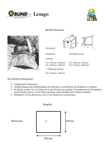 bauplan f r einen nistkasten. Black Bedroom Furniture Sets. Home Design Ideas