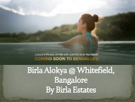 Birla Alokya | Birla Estates | 3,4 BHK villas for sale in Whitefield, Bangalore